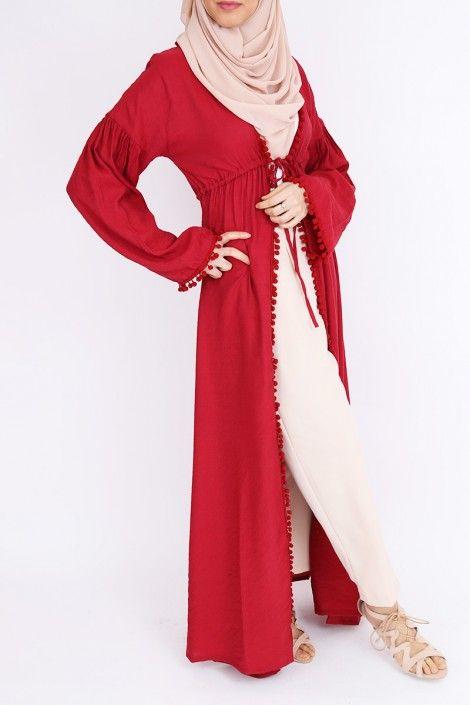Kimono abaya pas cher tenue islamique mode musulmane foulard hijab pas cher