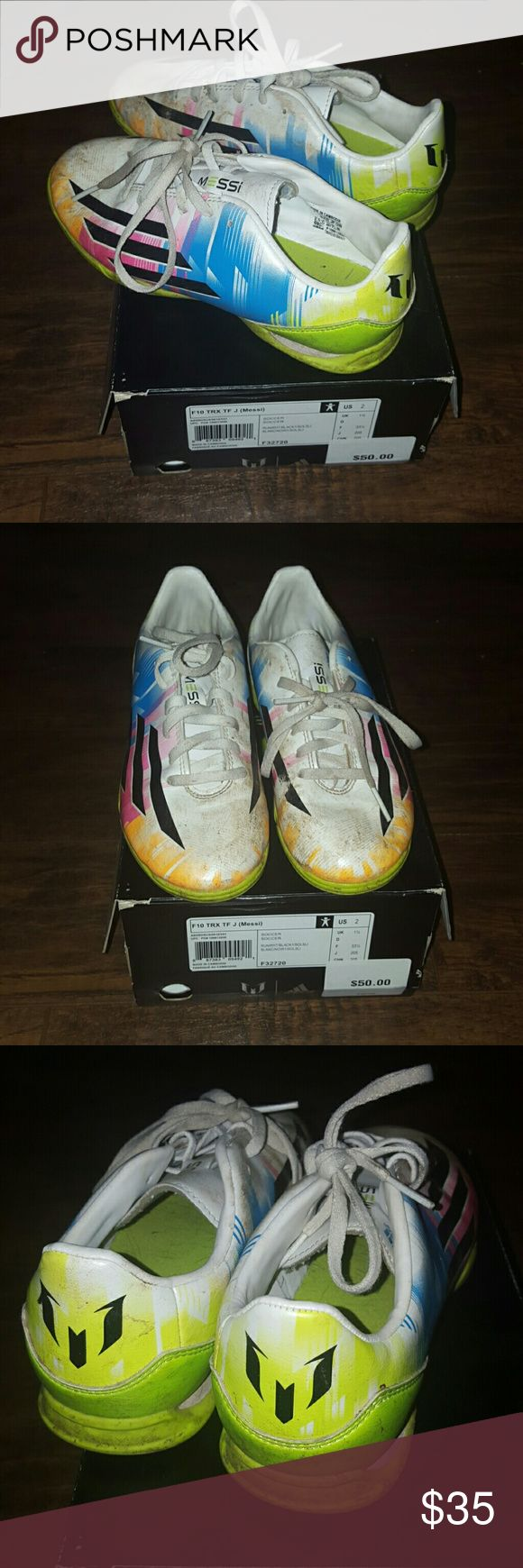Kids Adidas Messi Soccer Shoes Soccer Shoes for kids  Comes with box Messi for adidas  Excellent used condition Adidas Shoes