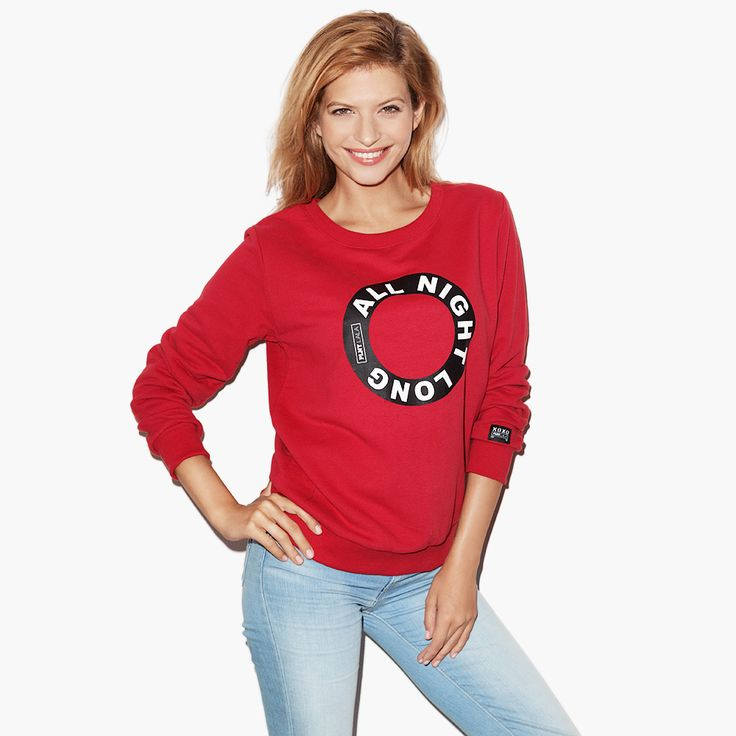 All Night Long red Sweatshirt