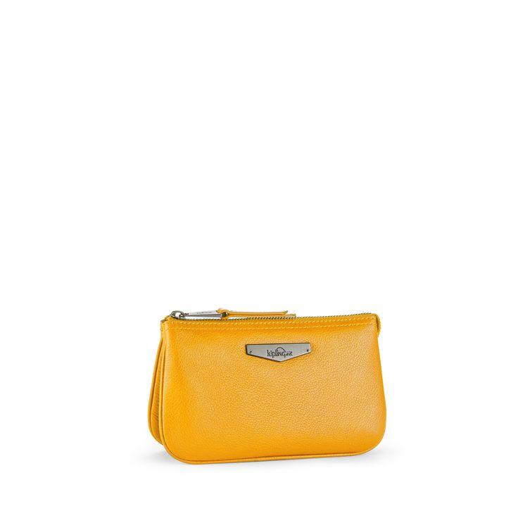 Kipling Yellow Clutch Bag