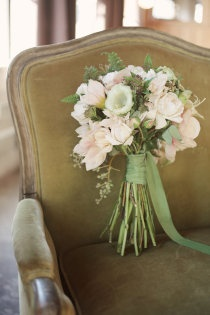 Rustic bouquet, soft peach and sage  ... Wedding ideas for brides, grooms, parents & planners ... https://itunes.apple.com/us/app/the-gold-wedding-planner/id498112599?ls=1=8 … plus how to organise an entire wedding ♥ The Gold Wedding Planner iPhone App ♥