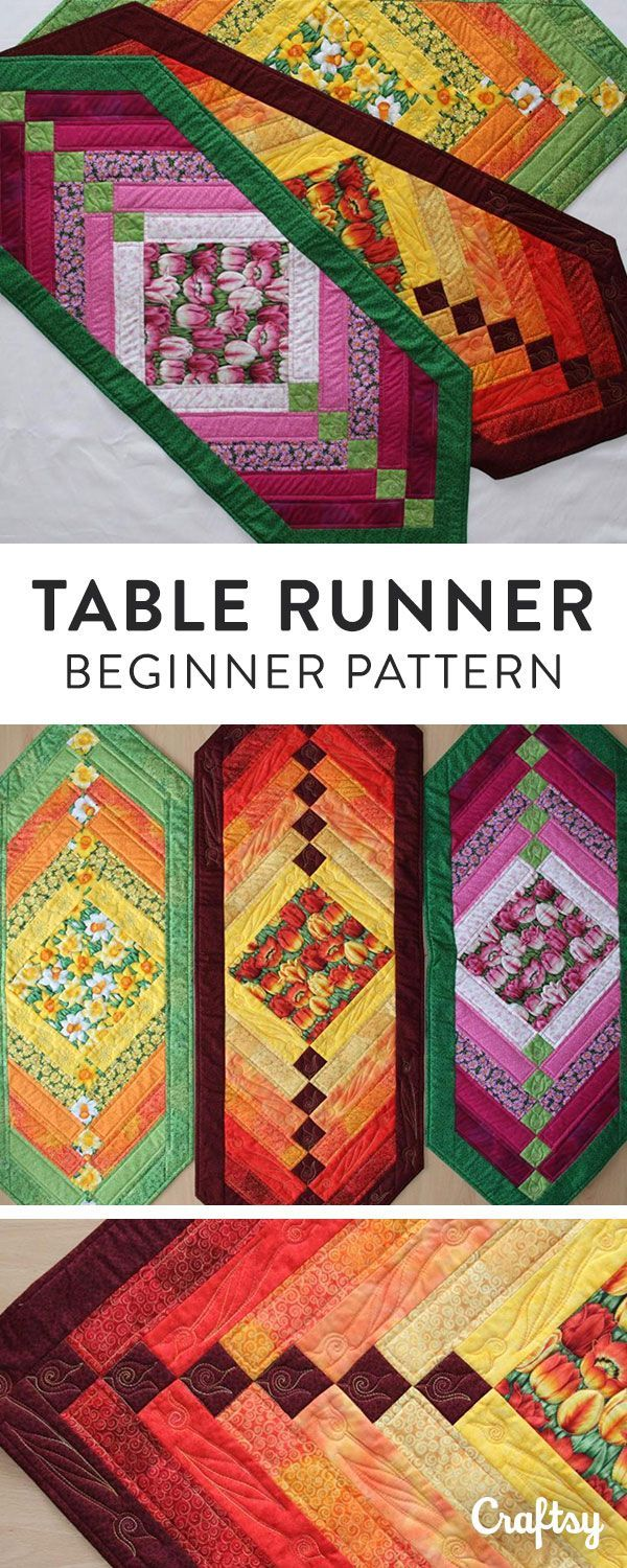 Quilt this lovely chevron table runner with this free downloadable pattern.