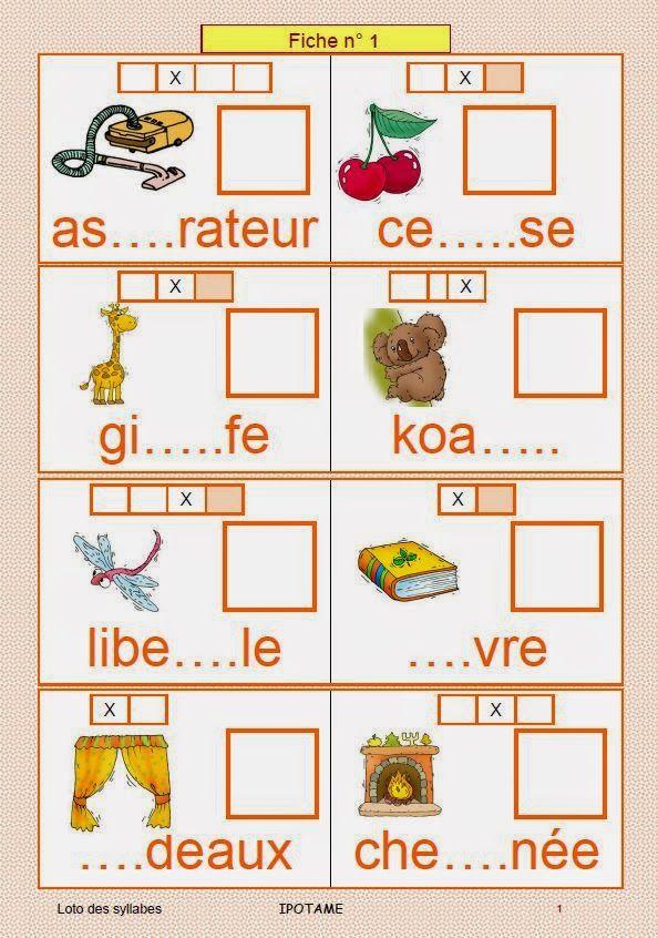 IPOTÂME ....TÂME: CP Loto des syllabes