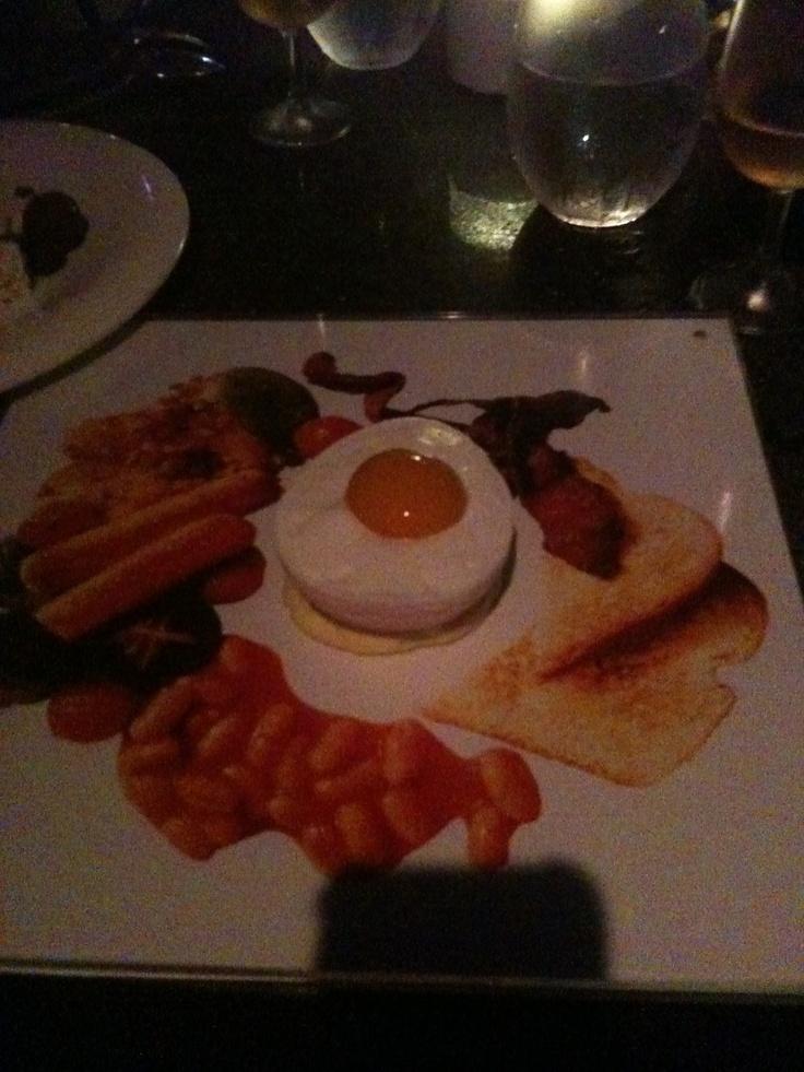 Breakfast for dessert at BLU - Shangri La Hotel