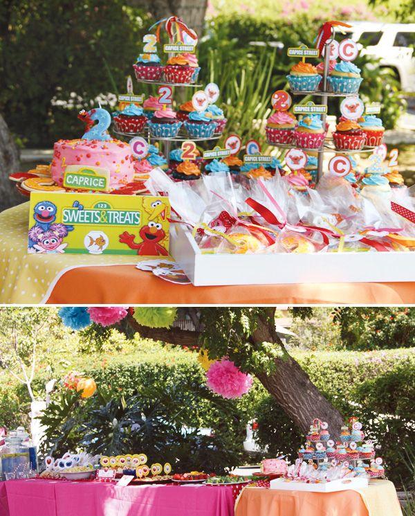 {Elmo & Dorothy} Sesame Street Birthday Party // Hostess with the ...