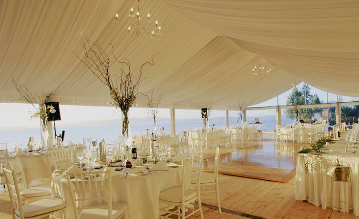 Take in the glorious view across the bay in beautiful Port Stephens from your Marquee at The Anchorage Port stephens - ideal wedding ceremony and reception location.