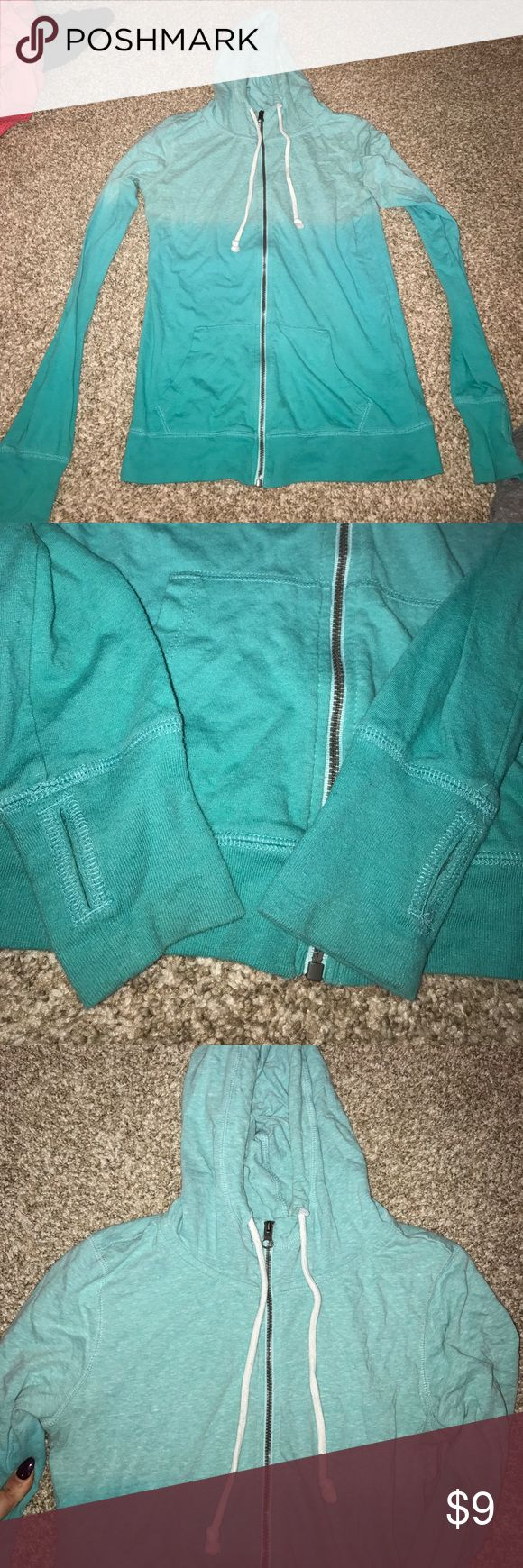 So perfect zip up hoodie Excellent condition. Holes for thumbs. so Tops Sweatshirts & Hoodies