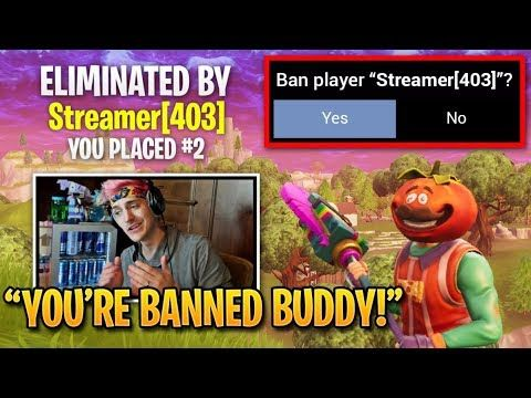 Ninja Gets Stream Snipers BANNED by Epic Games! | Fortnite