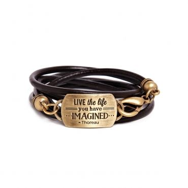 "Live The Life Mantra #Bracelet in Brass http://shrsl.com/?~7736 Travel towards happiness with this bracelet as you ""Live the Life you have imagined- Thoreau"". Available in Brass and Silver."