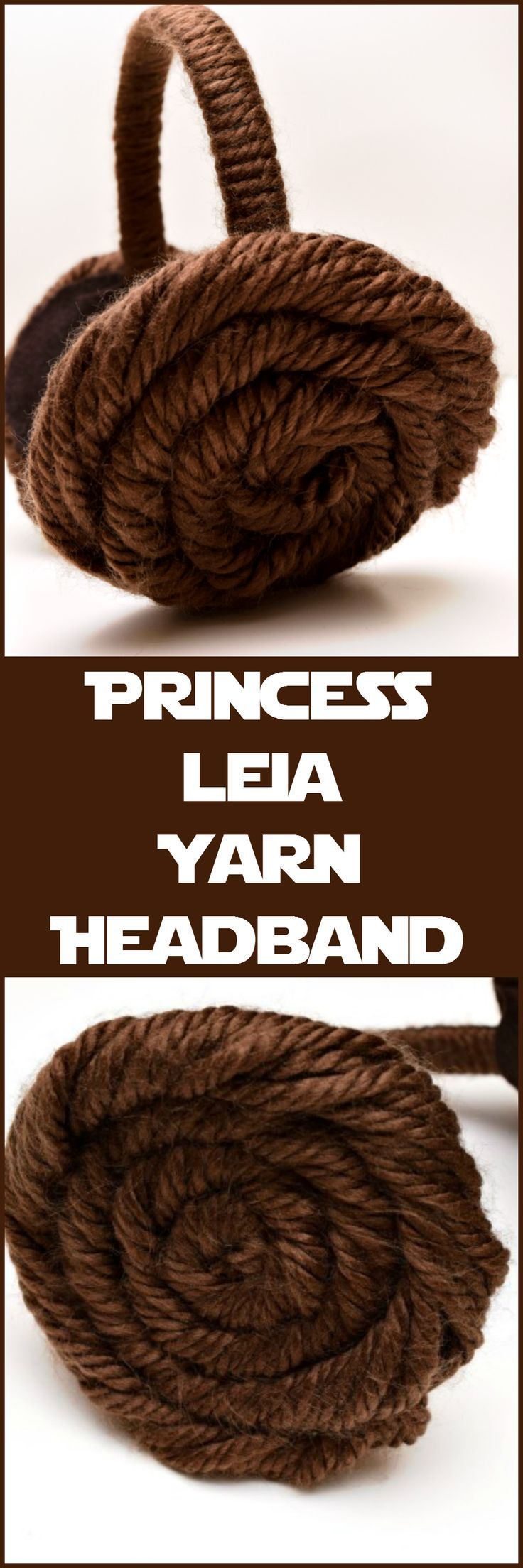 Princess Leia Yarn Headband. The perfect addition to your Star Wars costume! Easy DIY instructions and supply list included along with step by step photos.
