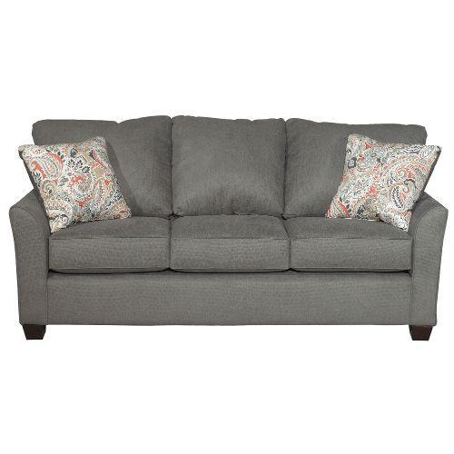 Sofa Pillows Casual Contemporary Charcoal Gray Sofa Tara