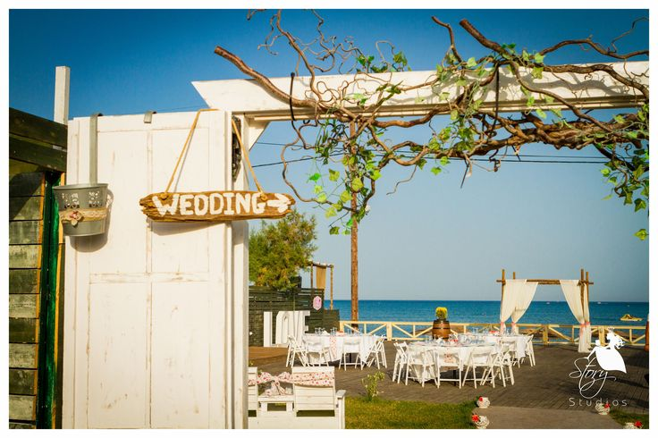 A lovely rustic entrance to Vezalis Beach and Restaurant! #zanteweddings