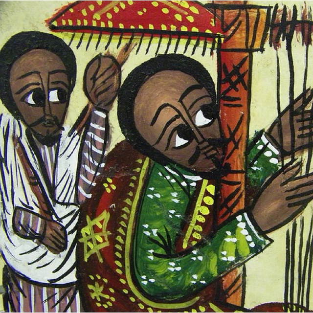 Ethiopian Christian painting.