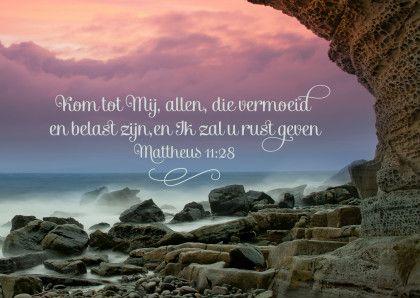 Christelijke kaart bijbeltekst. Te vinden op: www.kaartje2go.nl/spirituele-kaarten