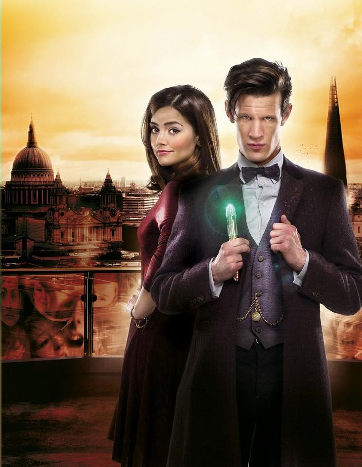 Jenna Coleman and Matt Smith for The Bells of Saint John.