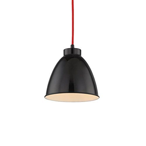 "【SALE】Black Kitchen Pendants, Warehouse Hanging Fixture with Painted Metal Shade, Barn Ceiling Pendant Lamp with Adjustable Cord and Bell Shape Design, WISBEAM, Best Gift for Sweet Home Decoration - A simple but candy-colored design allows the Pendants to be used in a wide variety of environments - from sleekly modern to warm transitional and beyond. Adjustable cord allows hanging at lengths of up to 68.7"", and an medium base incandescent or LED bulb is recommneded. What's the advantage of…"