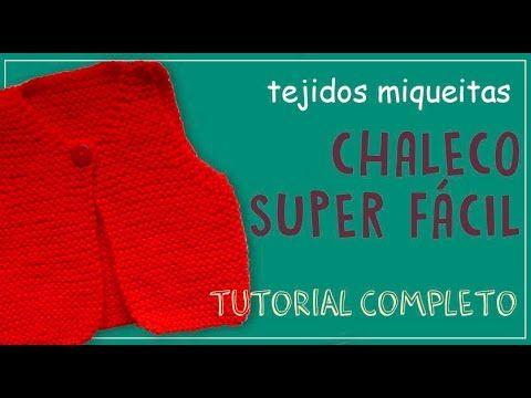Cómo tejer un chaleco sin costuras para niña (tutorial completo) - YouTube