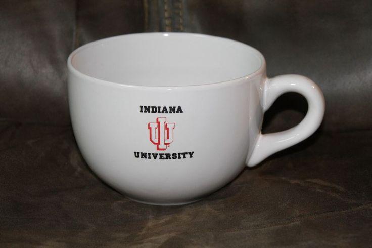 Indiana IU University Soup Large Coffee Mug Cup College #NA
