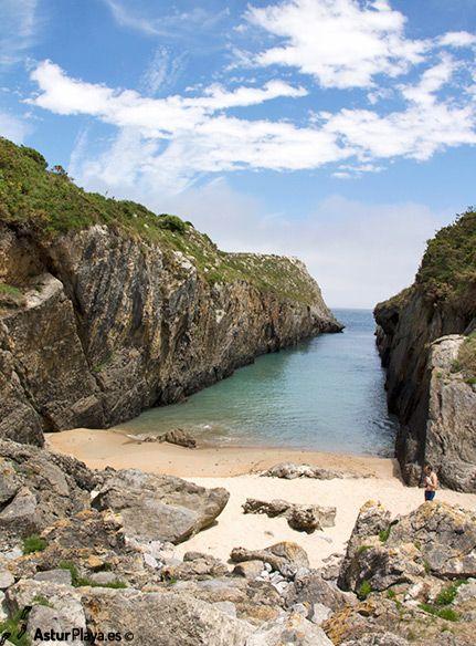 Villanueva beach in Llanes, Asturias, Spain