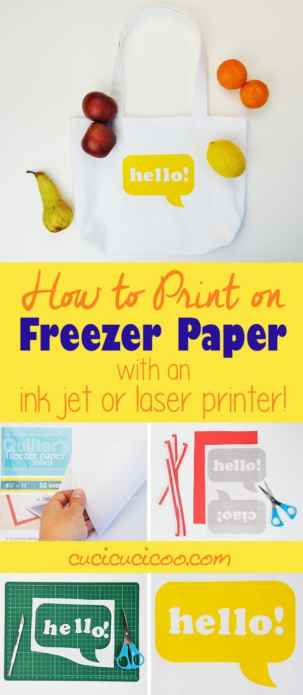Freezer paper stenciling is so much fun, but tracing designs can be a drag. However it's easy and quick when you learn how to print on freezer paper! There's even a special trick to print with a laser printer instead of an inkjet, or on A4 paper! Find out