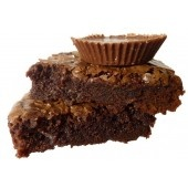 Peanut Butter Brownies with Reese's Peanut Butter Cup Pieces