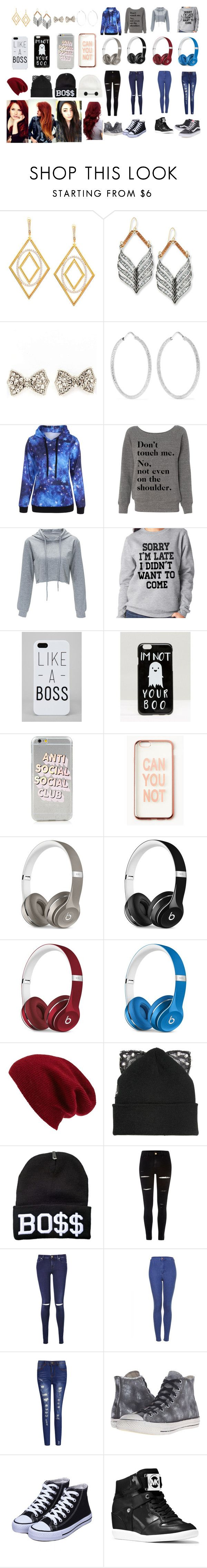 """""""choose#1"""" by taylor-356 ❤ liked on Polyvore featuring Ivanka Trump, Lulu Frost, Carolina Bucci, SignatureTshirts, ASOS, Missguided, Beats by Dr. Dre, Halogen, Silver Spoon Attire and Disney"""