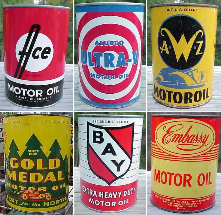 Lots of old oil cans. LOTS.