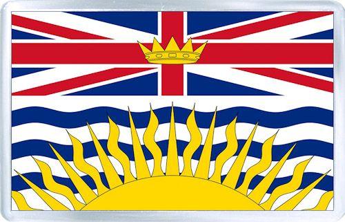 $3.29 - Acrylic Fridge Magnet: Canada. Flag of British Columbia
