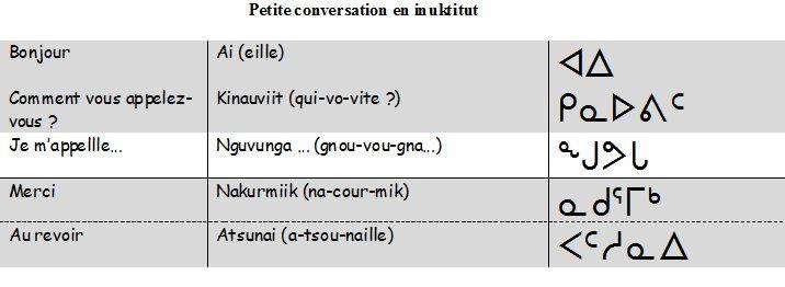 Ecole Maternelle René Cassin - Je m'appelle... en inuit