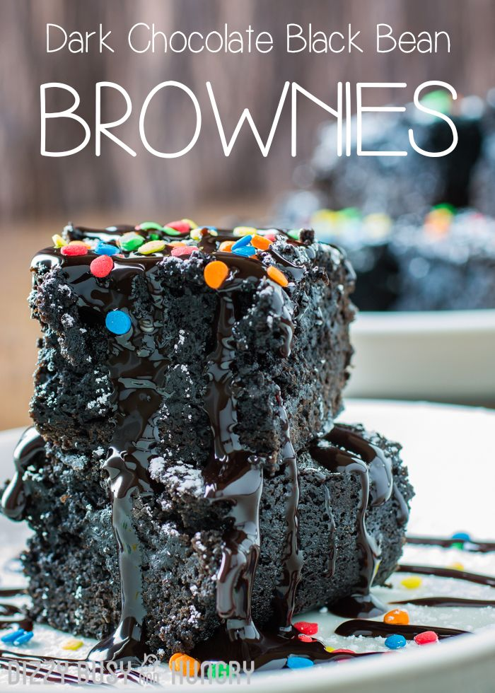 Dark Chocolate Black Bean Brownies | DizzyBusyandHungry.com - You will never go back to a boxed mix again. Try this easy dark chocolate brownie recipe for a delicious, fudgy, and better-for-you dessert that doesn't compromise on flavor or texture! #dessert #comfortfood #brownies #funfetti #chocolate #chocolaterecipes