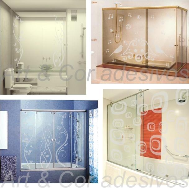 Adesivo Decorativo Jateado Box Vidro Banheiro Adesivo De Parede