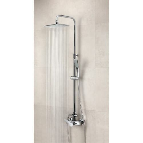 Nameeks US-9355RPK Ramon Soler Tub and Shower Package with Shower Head, Handshower with Hose, Slide Bar, Tub Spout, and Rough-In, Silver stainless steel