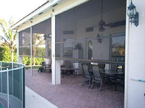25 best ideas about retractable screens on pinterest for Motorized retractable screens for porches