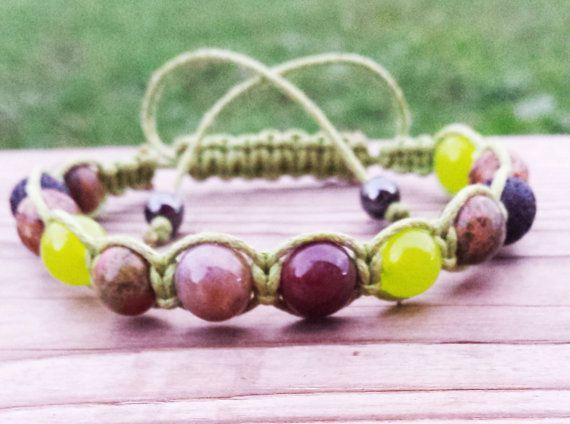 artisan jewelry Earthy Bracelet Shambala Bracelet Woven by BohemianChicbead