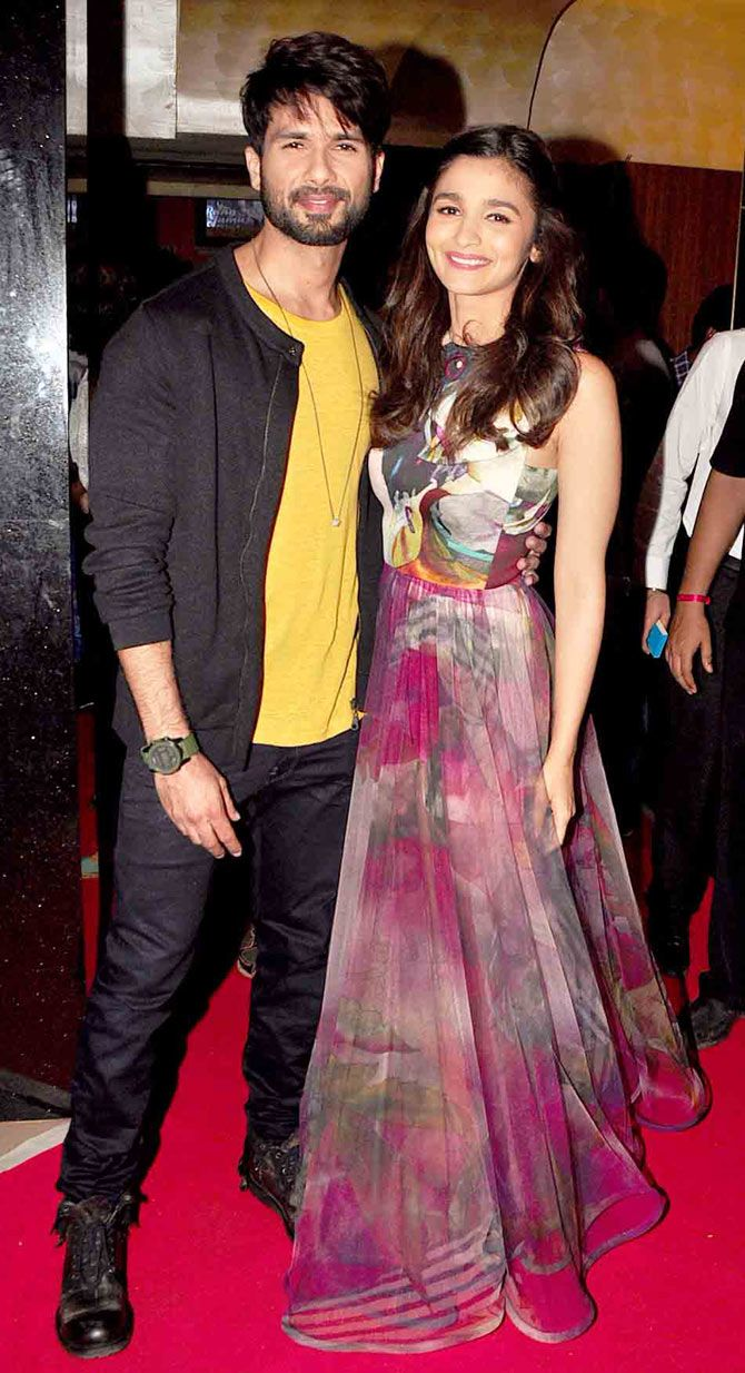 Shahid Kapoor and Alia Bhatt at the trailer launch of 'Shaandaar'. #Bollywood #Shaandaar #Fashion #Style #Beauty #Handsome