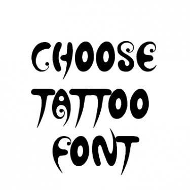tattoo lettering font generator online