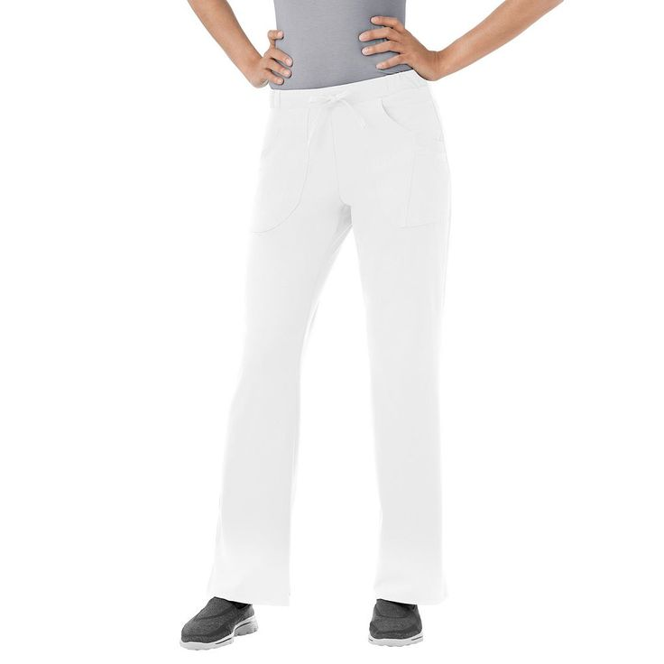 Plus Size Jockey Scrubs Classic Next Generation Comfy Pants, White