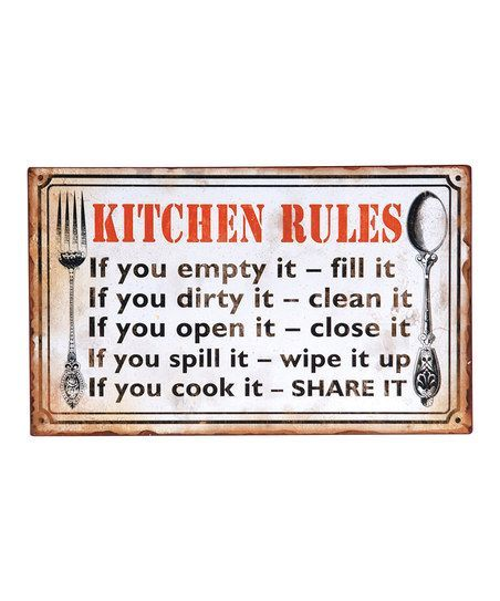 Kitchen Signs Sayings: It's Time To Lay Down The Law Around Here! These #kitchen
