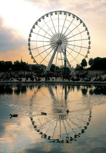 Ferris Wheel in Tuileries Gardens, Paris