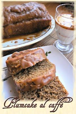 Plumcake ricotta e caffè con glassa moka