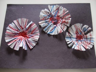 4th of July Fireworks Craft | No Time For Flash Cards - Play and Learning Activities For Babies, Toddlers and Kids