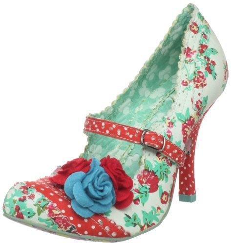 Irregular Choice Women's Cortesan Floral Too Pump,Red/Blue,8 M US Irregular Choice, http://www.amazon.com/dp/B004P4OBM0/ref=cm_sw_r_pi_dp_KP3sqb011KVB7: Polka Dots, Party Shoes, Fun Shoes, Awesome Shoes, Choice Women, Felt Flower, Pumps Shoes, Green Flower, Irregular Choice