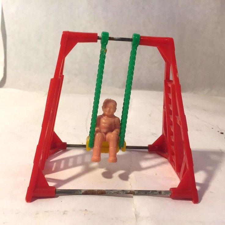 Vtg Acme BABY SWING Renwal Ideal Marx Tin Dollhouse Furniture Plastic 1:16 | eBay
