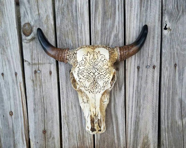 cráneo Calavera decorada Taxidermia cráneo decoración