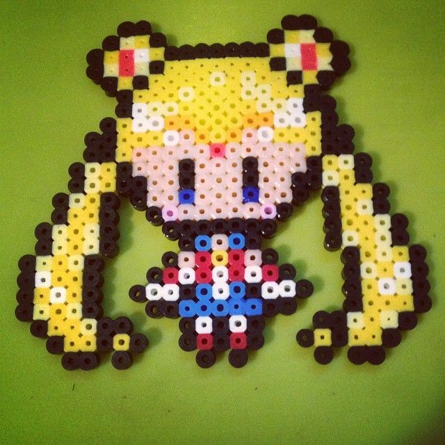 Sailor Moon perler beads  by realrecognizeleal
