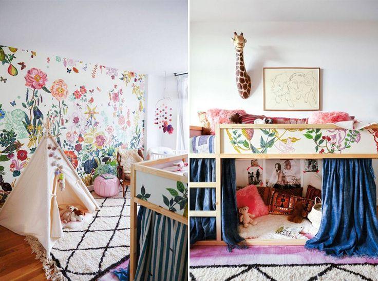 inspiration d coration chambre d 39 enfant la boh me avec beaucoup de couleurs un beau tapis. Black Bedroom Furniture Sets. Home Design Ideas