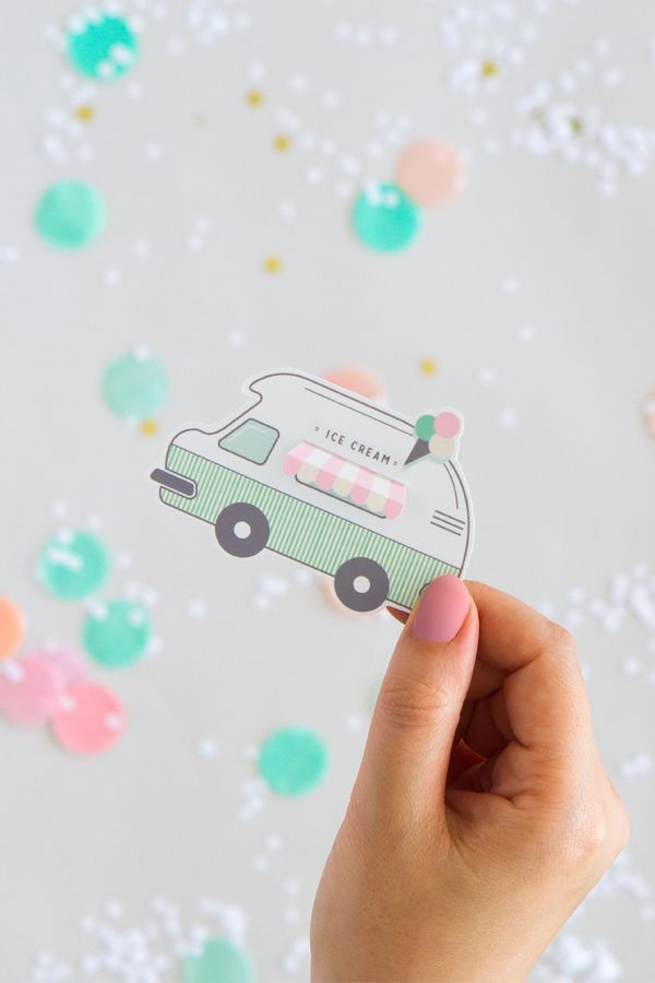 Free Printable Ice-Cream Truck Gift Tags   Oh Happy Day!
