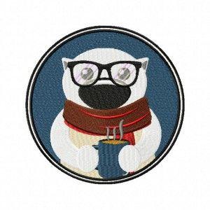 Winter Coffee Polar Bear 5.5