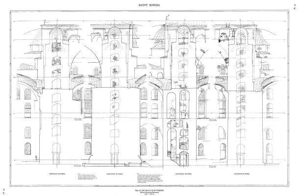 End walls of buttresses in Hagia Sophia by Robert Van Nice