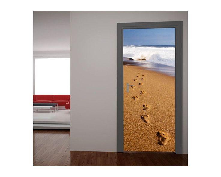 Βήματα στην άμμο, αυτοκόλλητο πόρτας , δείτε το!